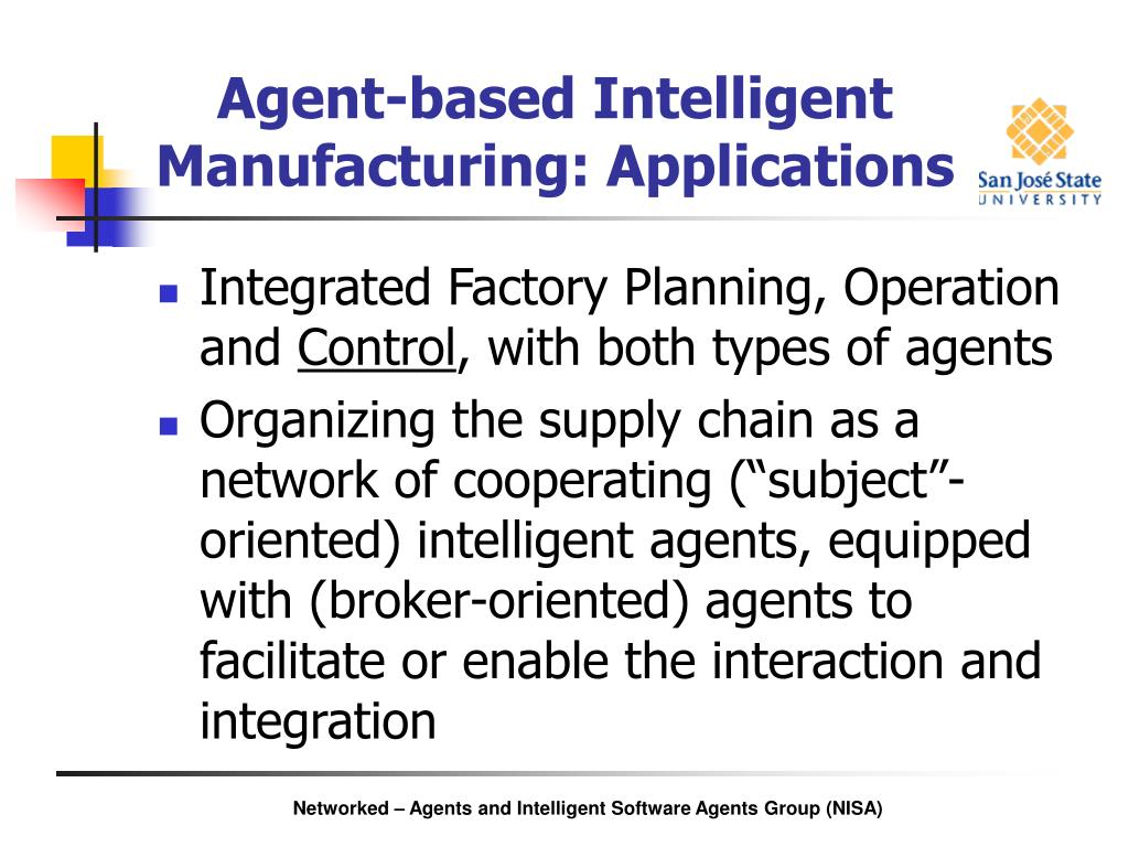 Agent-based Intelligent Manufacturing: Applications