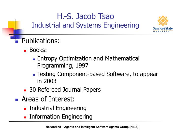H s jacob tsao industrial and systems engineering2