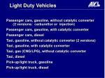 light duty vehicles