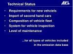 technical status