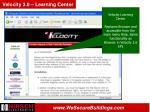 velocity 3 0 learning center