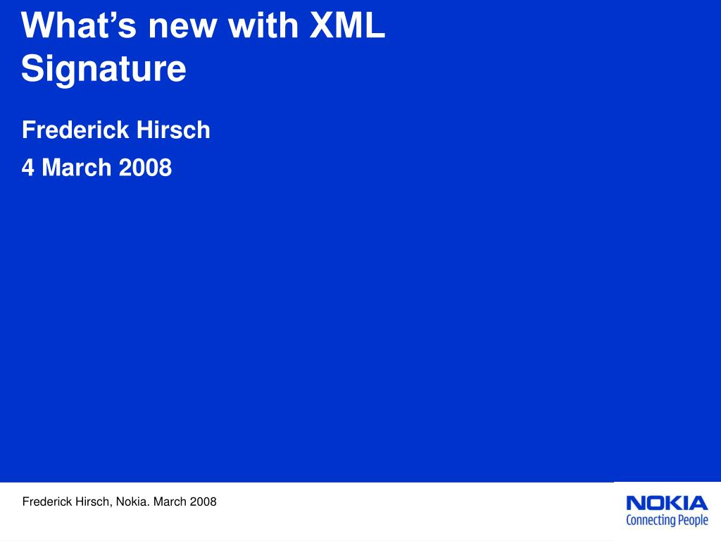 What's new with XML Signature