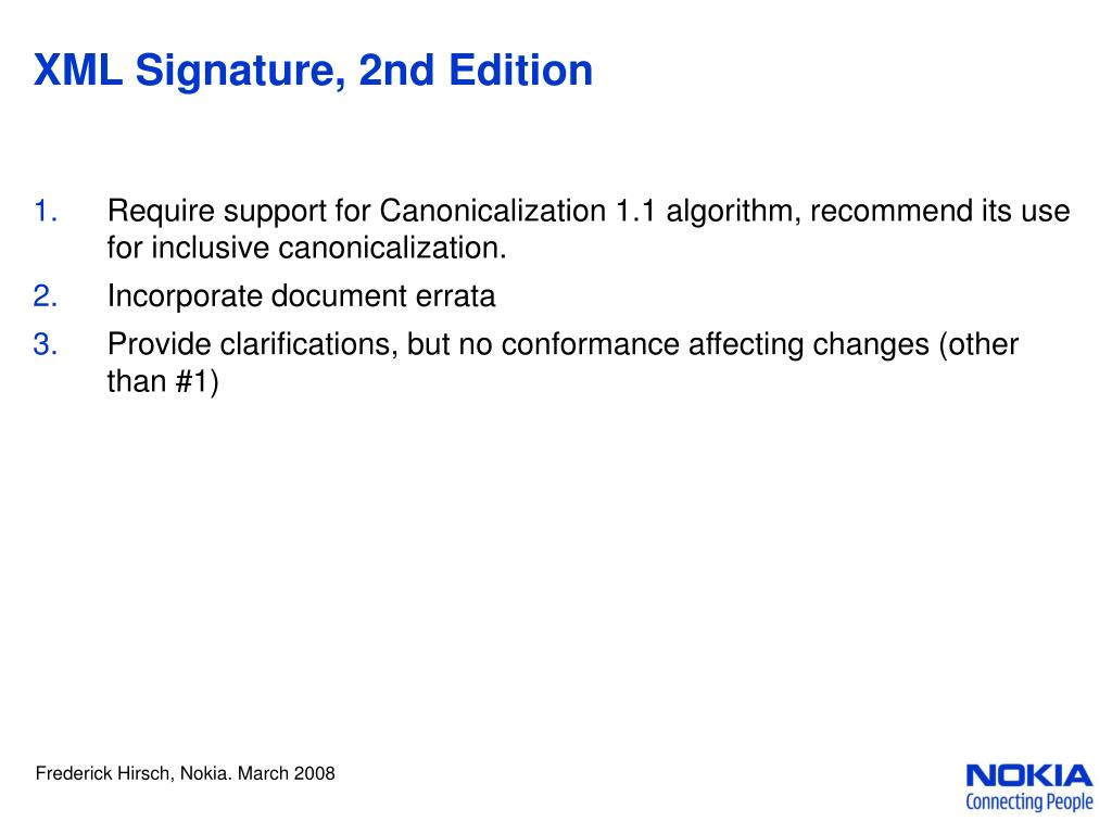 XML Signature, 2nd Edition