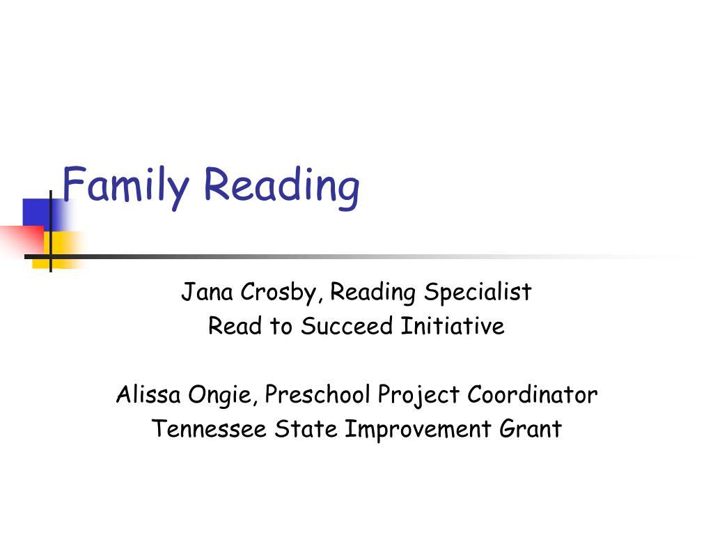family reading l.