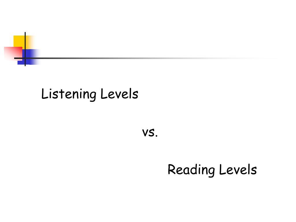 Listening Levels