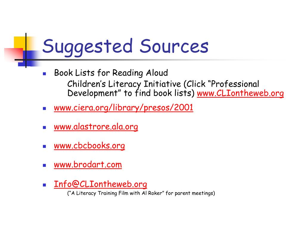 Suggested Sources
