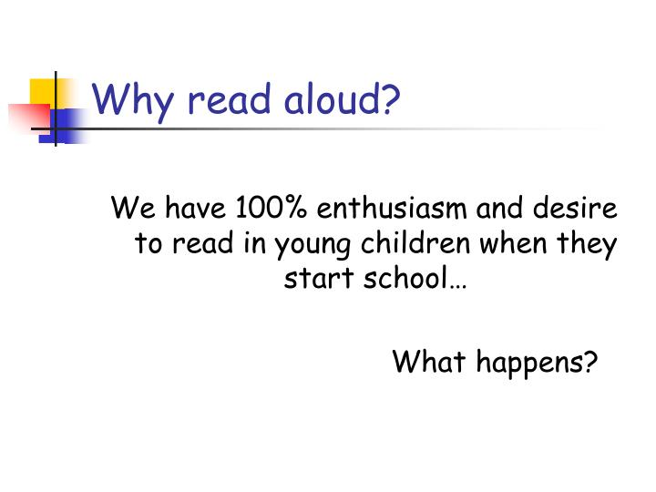 Why read aloud