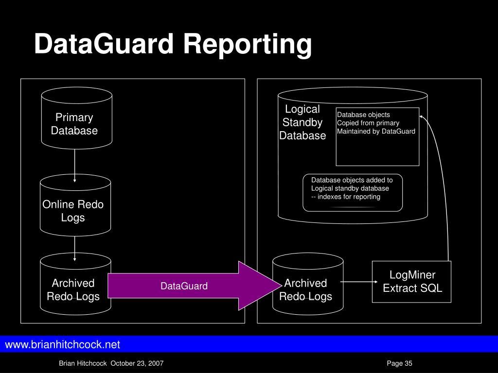 DataGuard Reporting