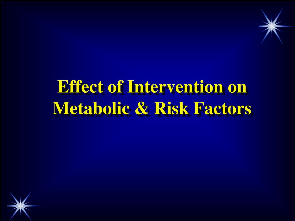Effect of Intervention on Metabolic & Risk Factors