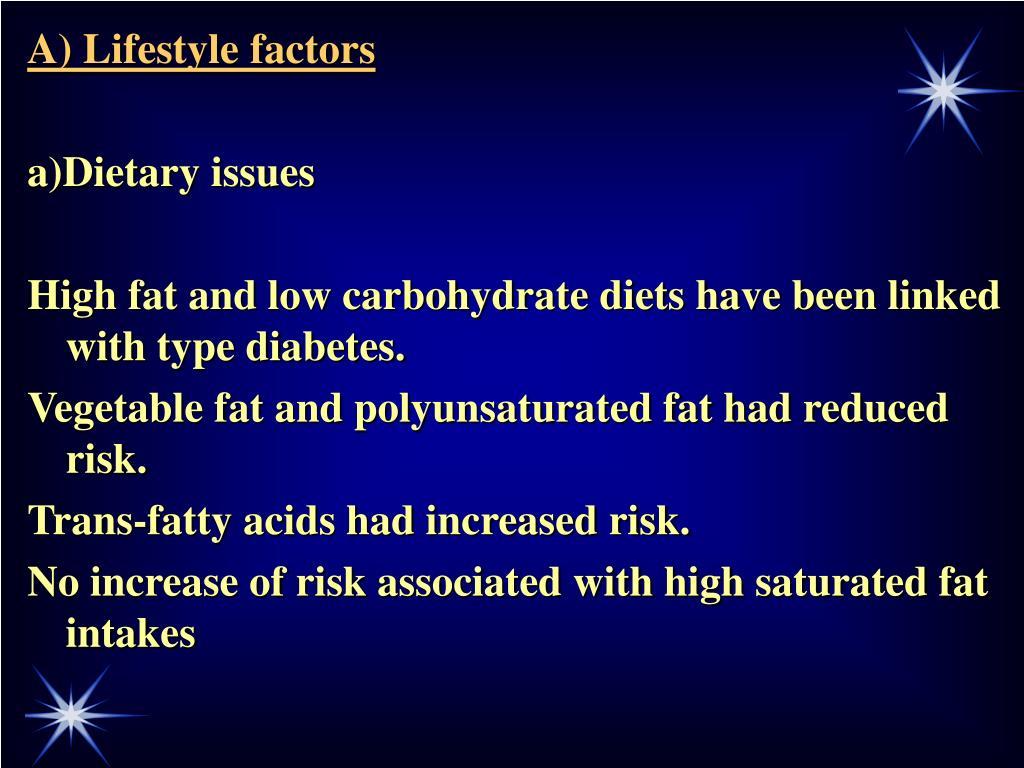 A) Lifestyle factors