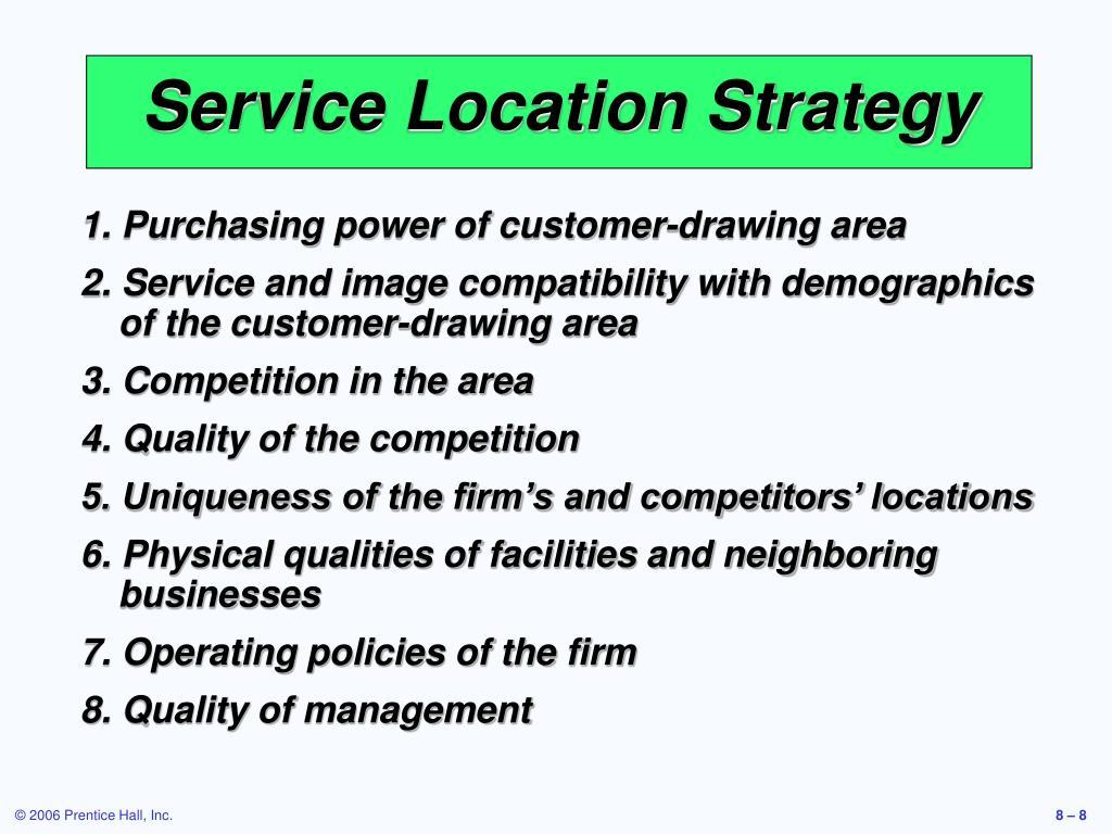 Service Location Strategy