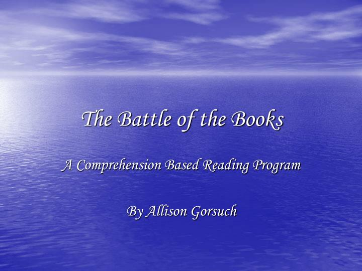 the battle of the books n.
