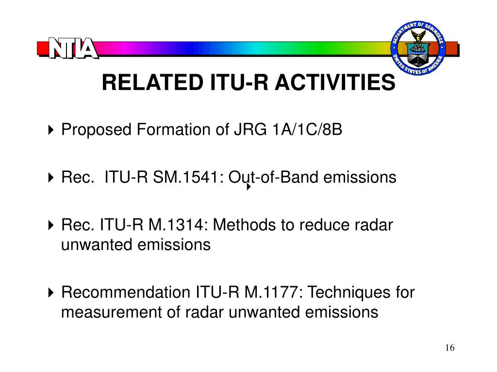 RELATED ITU-R ACTIVITIES