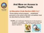 and more on access to healthy foods