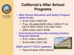 california s after school programs