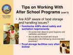 tips on working with after school programs con t19