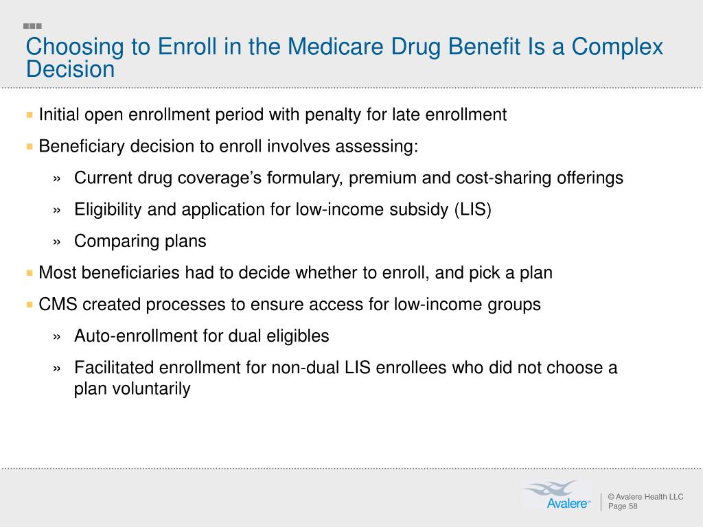 Choosing to Enroll in the Medicare Drug Benefit Is a Complex Decision