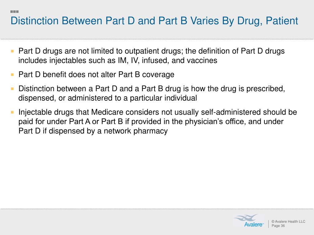 Distinction Between Part D and Part B Varies By Drug, Patient