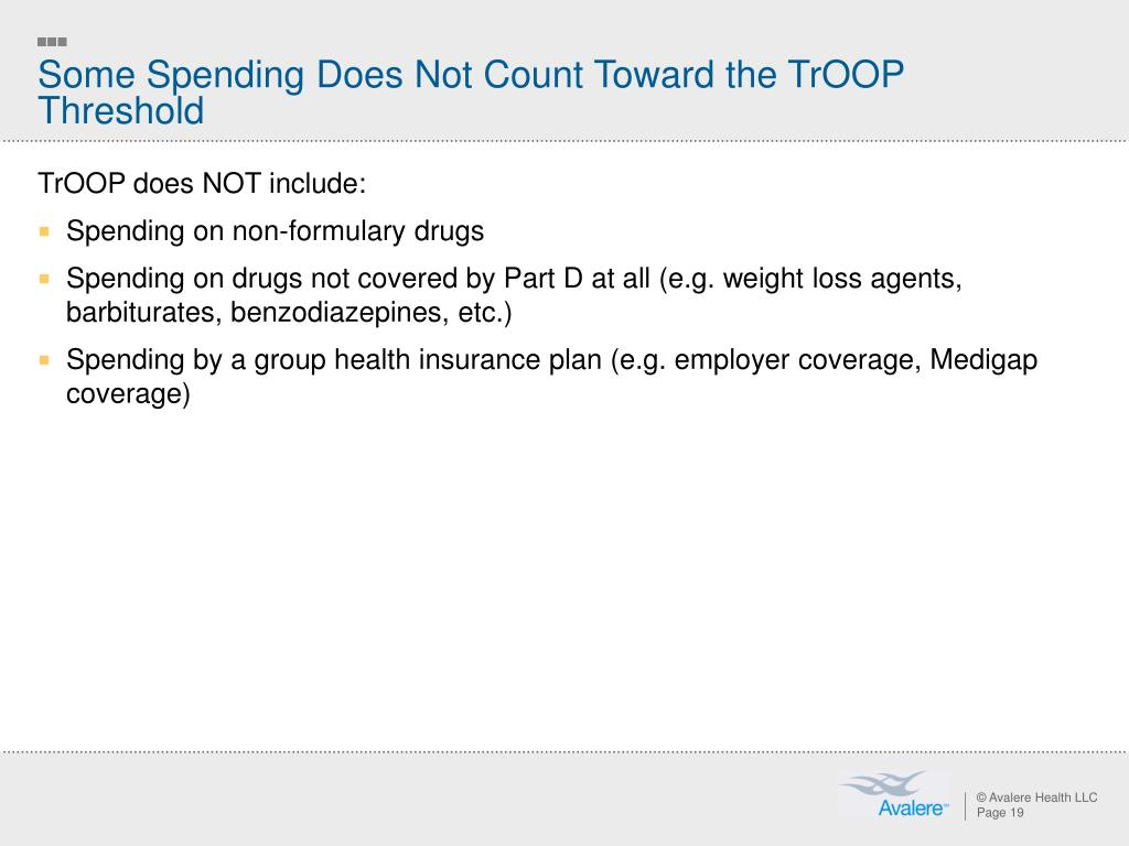 Some Spending Does Not Count Toward the TrOOP Threshold