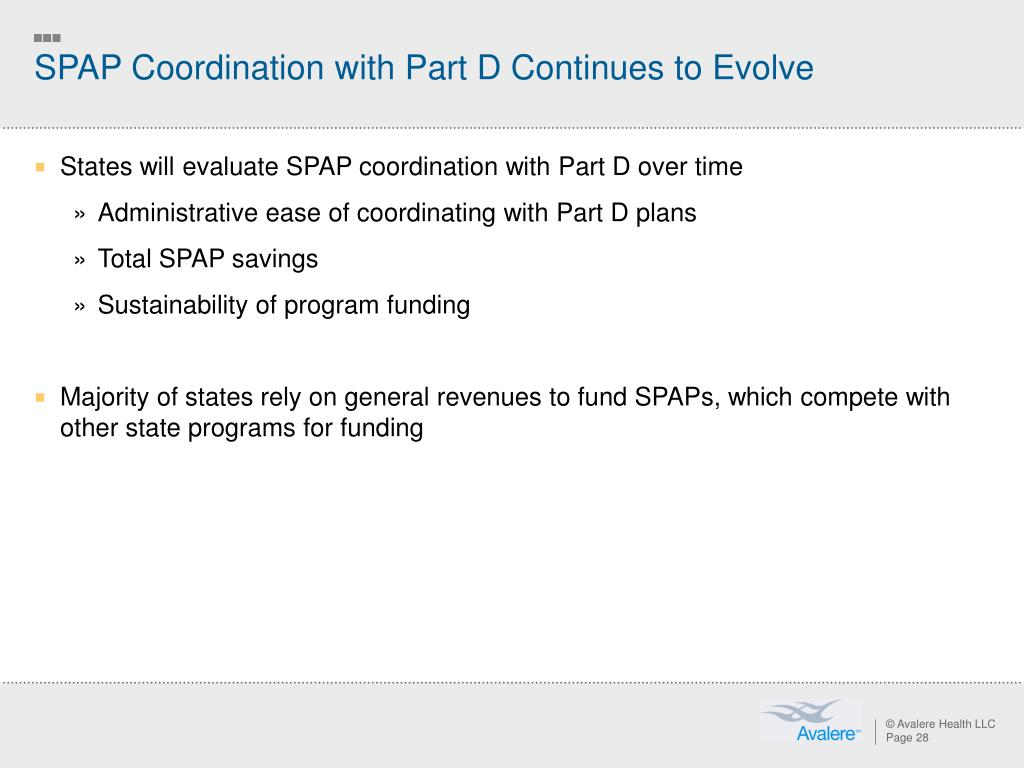 SPAP Coordination with Part D Continues to Evolve