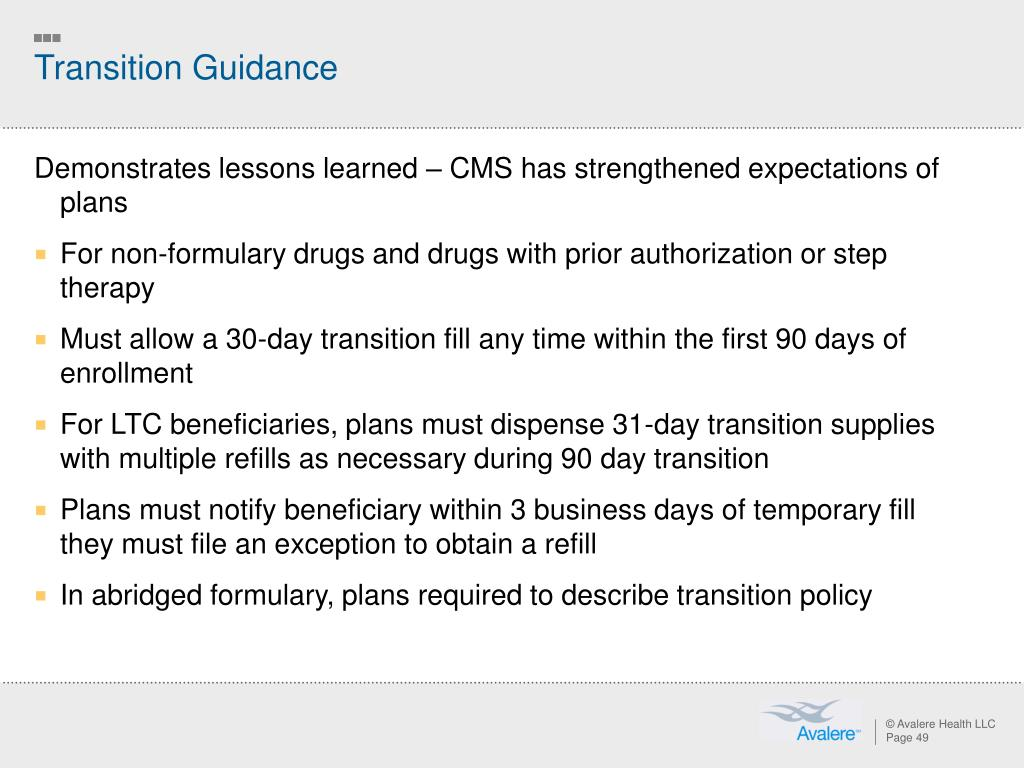 Transition Guidance