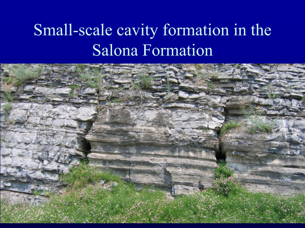 Small-scale cavity formation in the Salona Formation