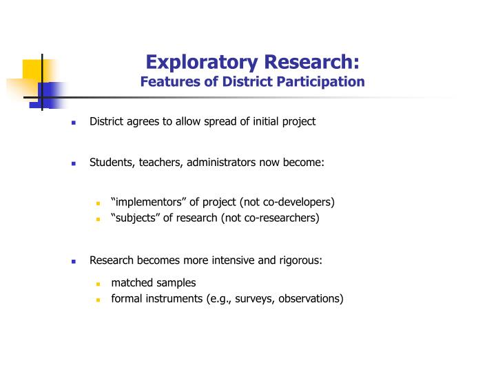 Exploratory Research: