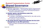 regional communications system shared governance