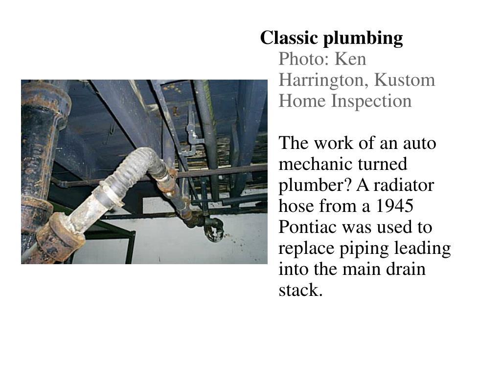 Classic plumbing