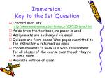 immersion key to the 1st question