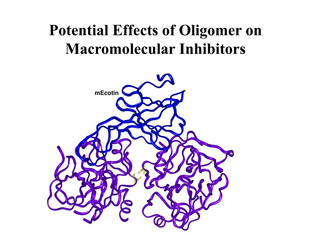 Potential Effects of Oligomer on Macromolecular Inhibitors