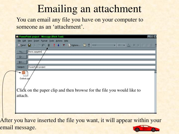 Emailing an attachment