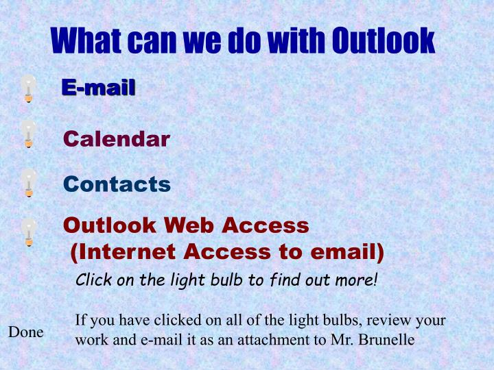 What can we do with Outlook