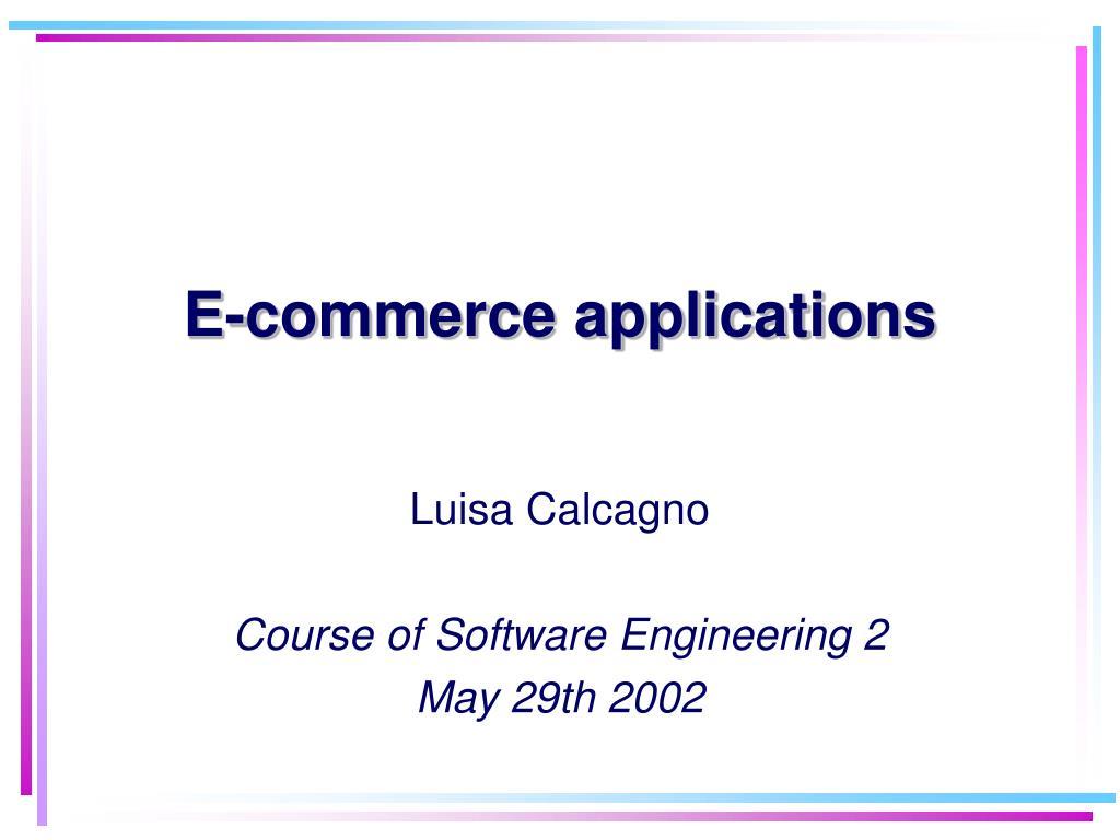 e commerce applications l.