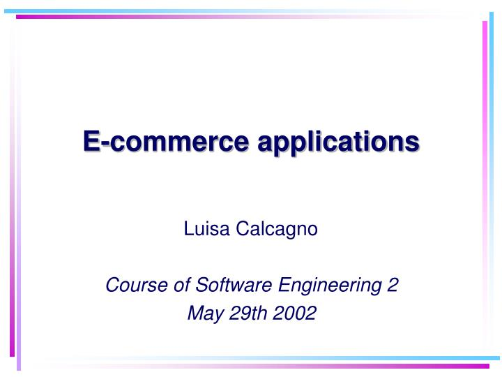 e commerce applications n.
