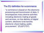 the eu definition for e commerce