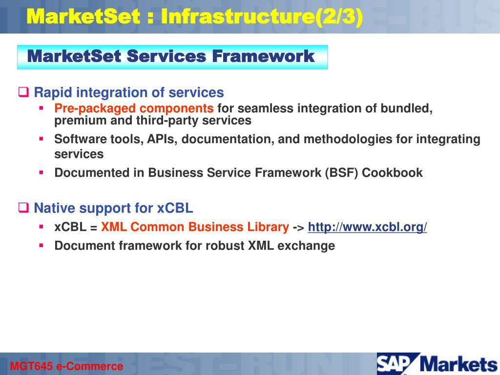 MarketSet : Infrastructure(2/3)