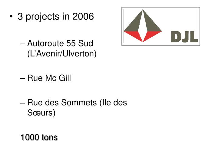 3 projects in 2006