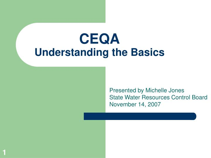 ceqa understanding the basics n.