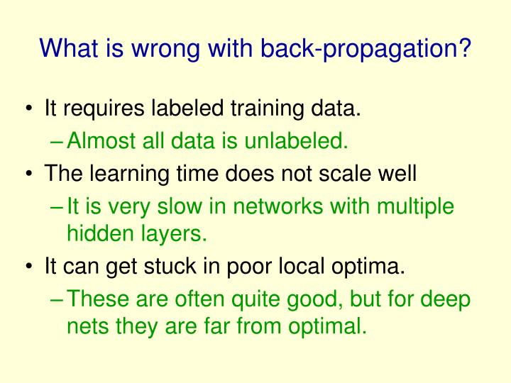 What is wrong with back-propagation?