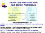 ad hoc qos interaction with host domain architecture