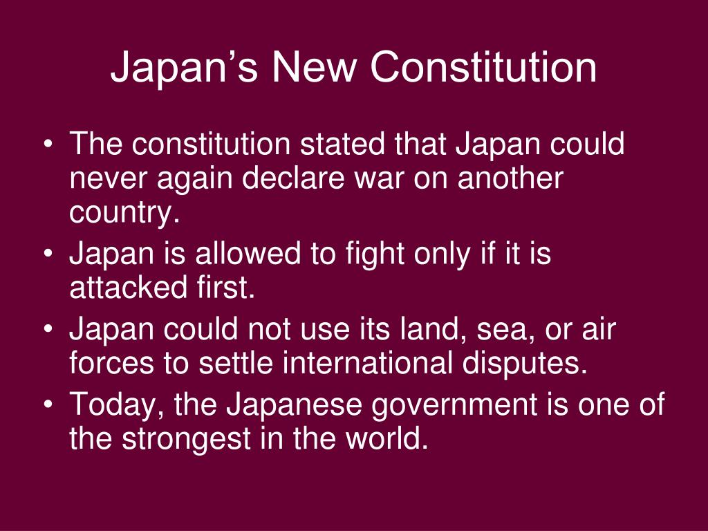 Japan's New Constitution