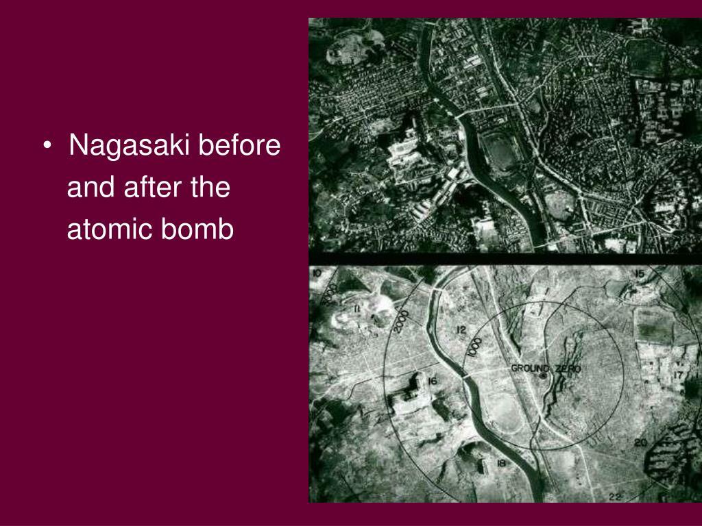 Nagasaki before