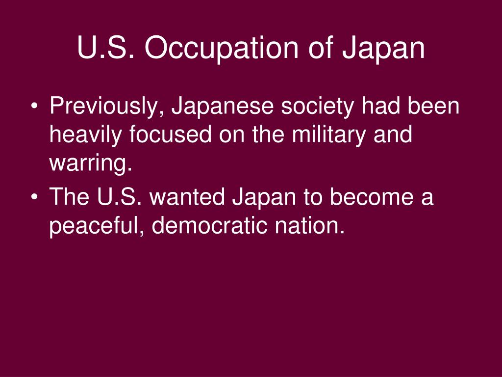 U.S. Occupation of Japan