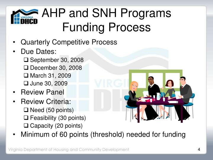 AHP and SNH Programs