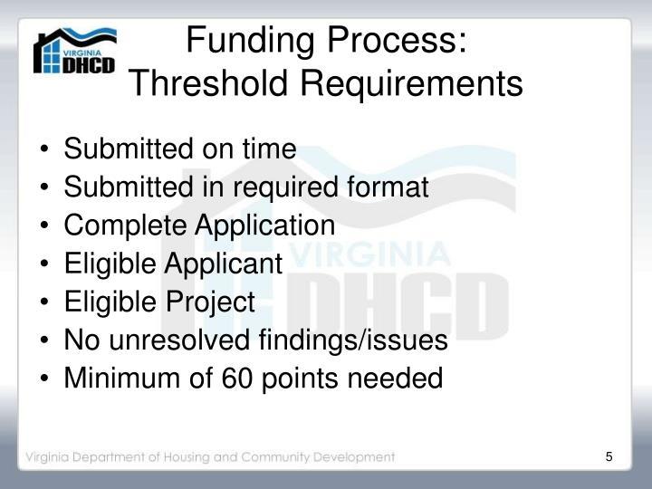 Funding Process: