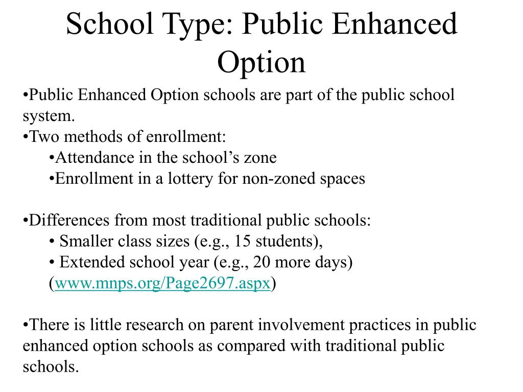 School Type: Public Enhanced Option