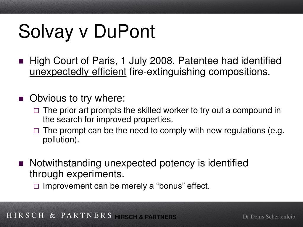 Solvay v DuPont