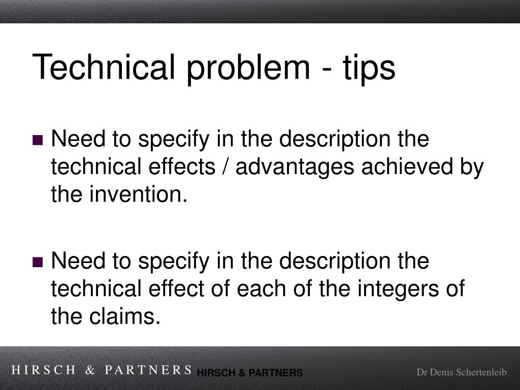 Technical problem - tips