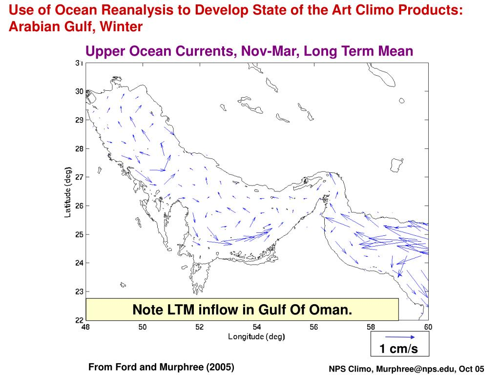 Use of Ocean Reanalysis to Develop State of the Art Climo Products: